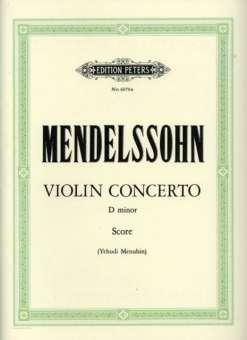 Felix Jakob Ludwig Mendelssohn-Bartholdy: Partitura za Koncert v d-molu