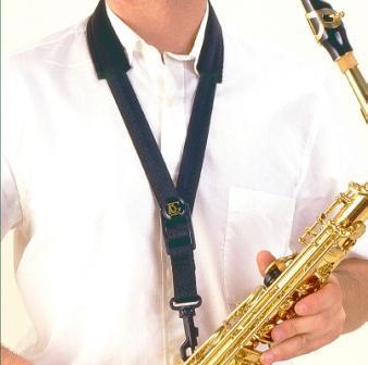 Pas za alt saksofon BG S12SH - črn