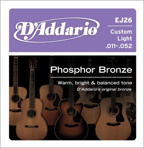 Strune za akustično kitaro D`Addario EJ26