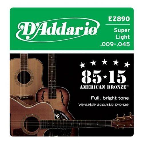 Strune za akustično kitaro D`Addario EZ890 Bronze