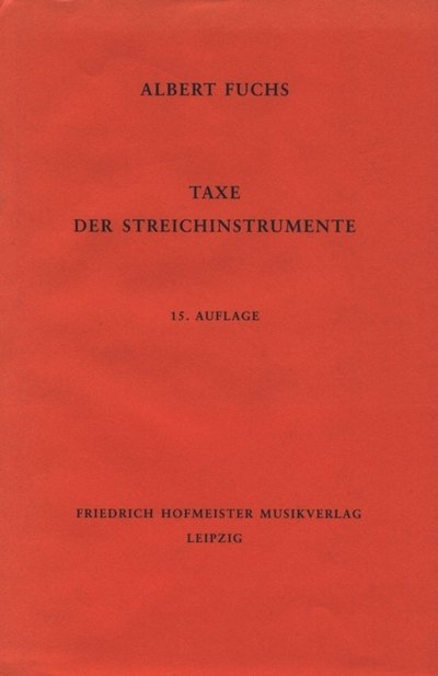 Tehnična literatura za glasbila s strunami Fuchs-Möckel-Taxe Gewa