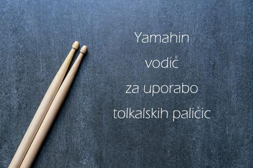 Yamahin vodič za uporabo tolkalskih paličic