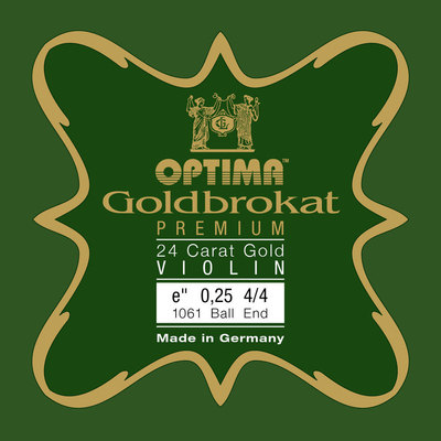 E-struna za violino Goldbrokat Premium 24 Carat Gold Optima