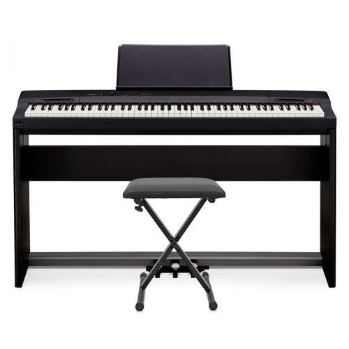 Klavirski set: električni klavir Privia PX-160 Casio s stojalom, slušalkami in stolom
