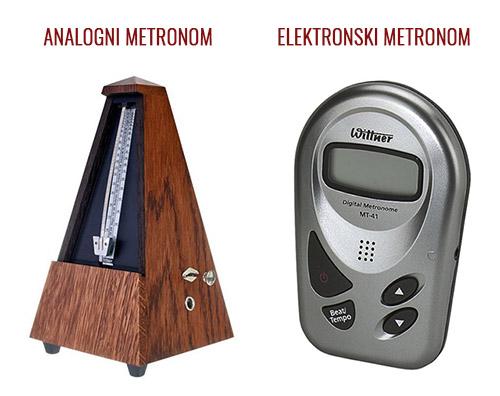 Analogni in elektronski metronom