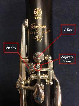 Tipke na klarinetu