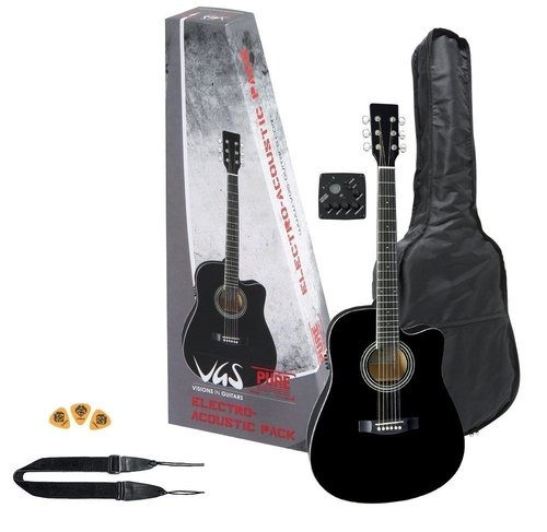 Kitarski set: elektro-akustična kitara VGS GEWApure
