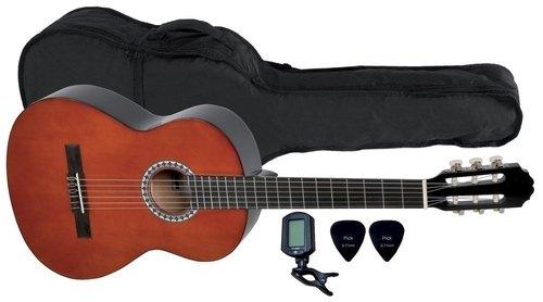 Kitarski set: koncertna kitara 4/4 s torbo, uglaševalcem in drsalicami VGS Basic GEWApure