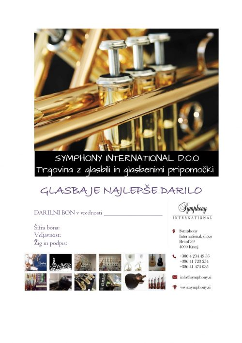 Darilni bon Symphony International d.o.o.