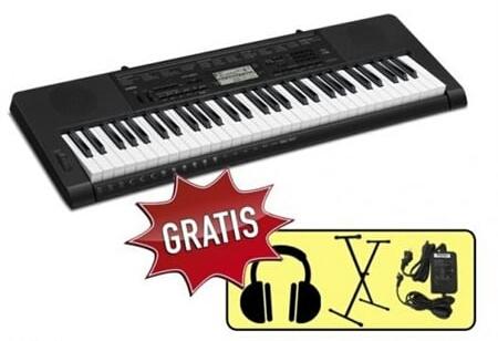 Klavirski set: Električna klaviatura CTK3500 Casio s stojalom in s slušalkami
