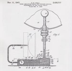 Patentna risba za originalni Ampegov pickup