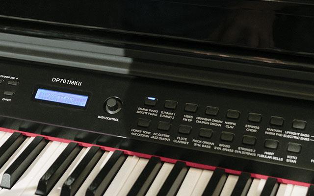 Digitalni klavir - izbira zvokov
