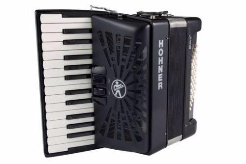 Harmonika Bravo II (48-basna s torbo) Silent Key Hohner