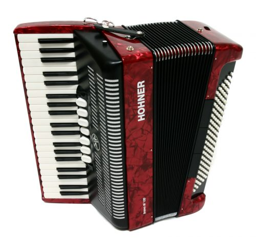 Harmonika Bravo III (120-basna s torbo) Silent Key Hohner