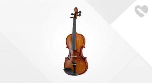 Violinski set: violina 4/4 s karbonskim lokom, kovčkom in kolofonijo Thomann