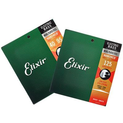 Set petih strun za električno bas kitaro 40-125 Elixir