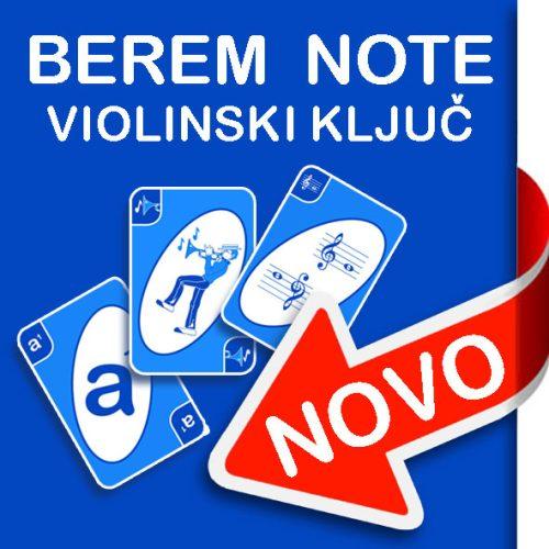 Igralne karte Berem note: violinski ključ
