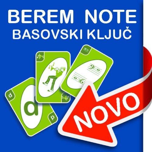 Igralne karte Berem note: basovski ključ