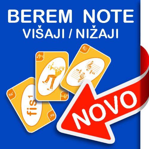 Igralne karte Berem note: višaji, nižaji