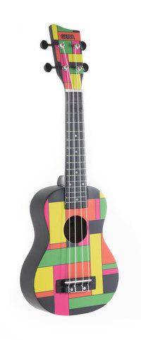 Sopranski ukulele Square Black Neon Gewa
